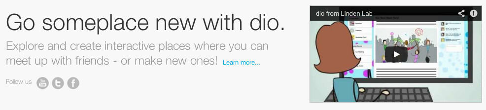 get someplace new with dio