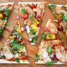 Chipotle Shrimp and Mango Flatbread {Giveaway} by EclecticRecipes.com #recipe
