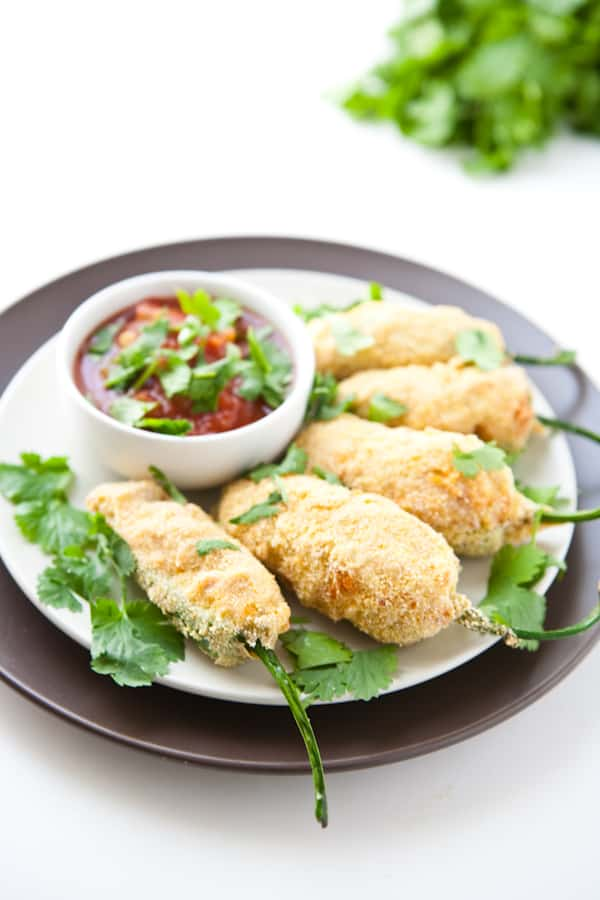 Bean and Cheese Stuffed Jalapeño Poppers @EclecticEveryday