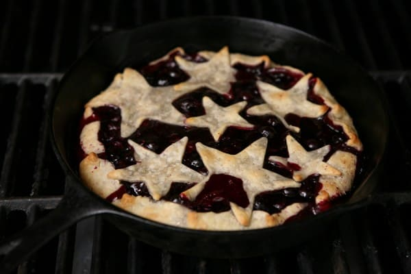 Grilled Blueberry Lemon Pie by EclecticRecipes.com #recipe