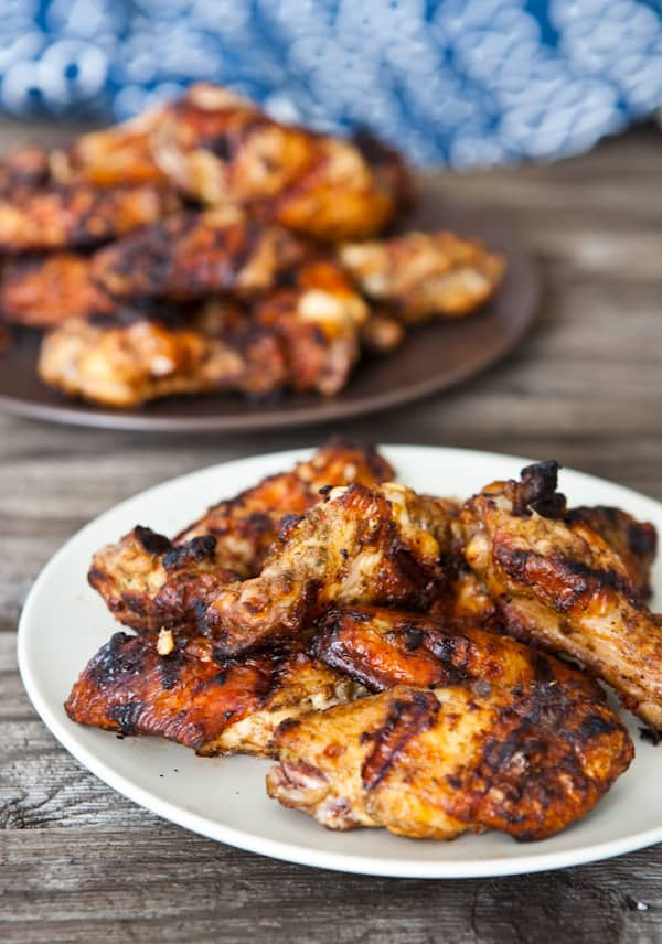 Grilled Jamaican Chicken Wings by EclecticRecipes.com #recipe