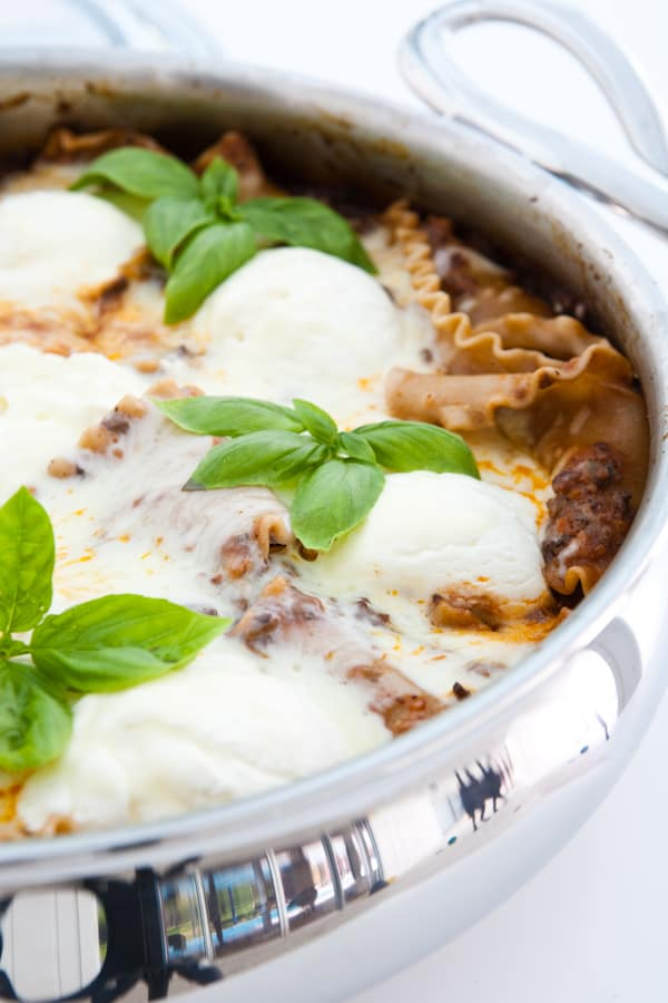 Skillet Lasagna by EclecticRecipes.com #recipe