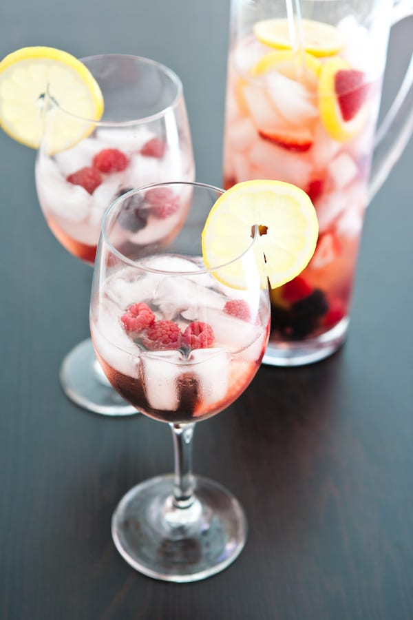 Triple Berry Sangria by EclecticRecipes.com #recipe
