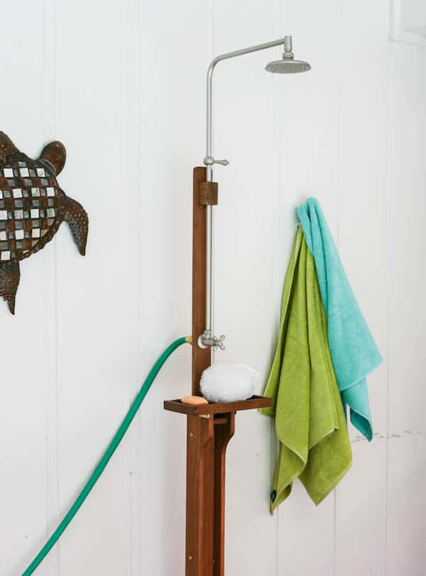 Outdoor Pool Shower {World Market Sweepstakes} by EclecticRecipes.com #recipe