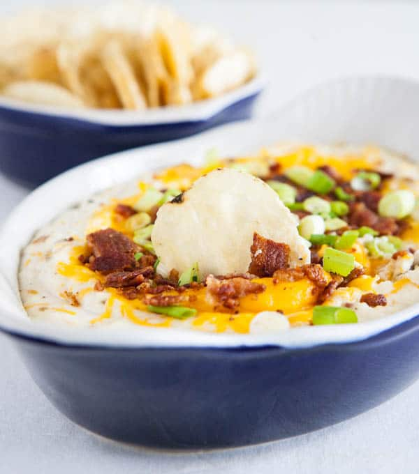 Loaded Potato Chip Dip by EclecticRecipes.com #recipe
