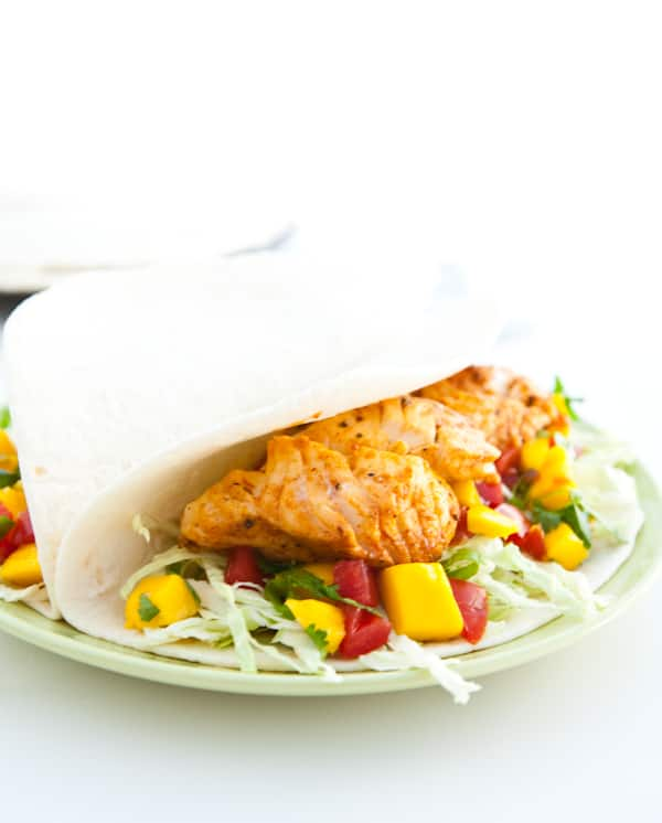 eclectic recipes fish tacos with mango salsa