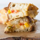 Fajita Grilled Cheese by EclecticRecipes.com #recipe