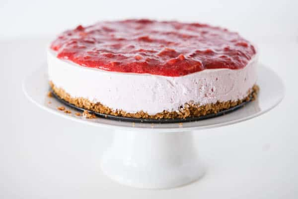 Yoplait®  Frozen Yogurt Strawberry Lemonade Pie by EclecticRecipes.com #recipe