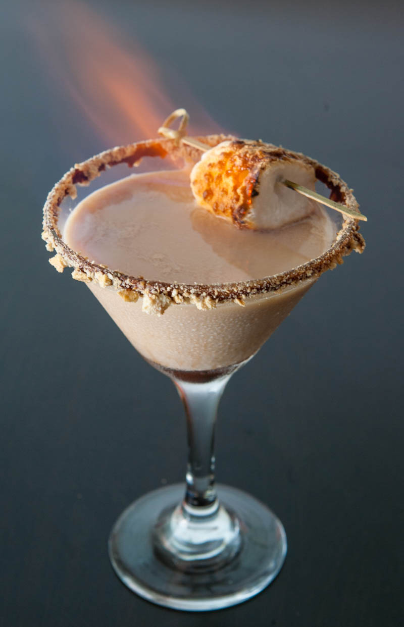 eclectic recipes flaming s mores martini