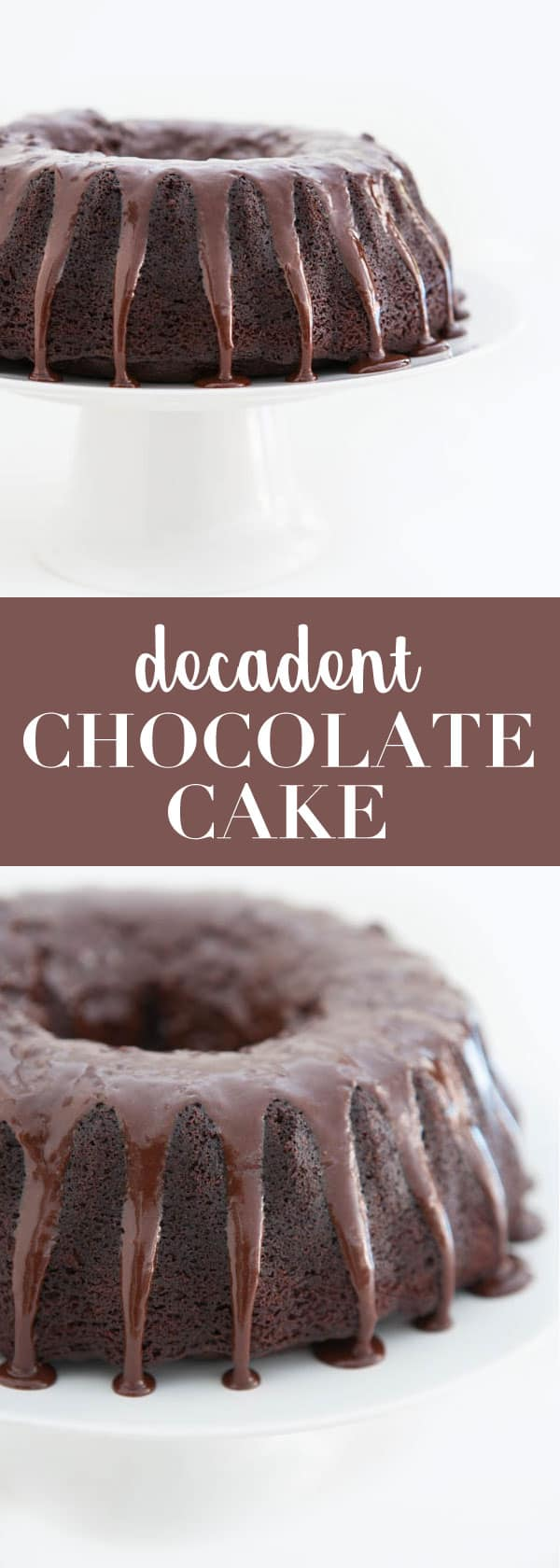 Decadent Chocolate Bundt Cake #recipe #chocolate #cake #dessert