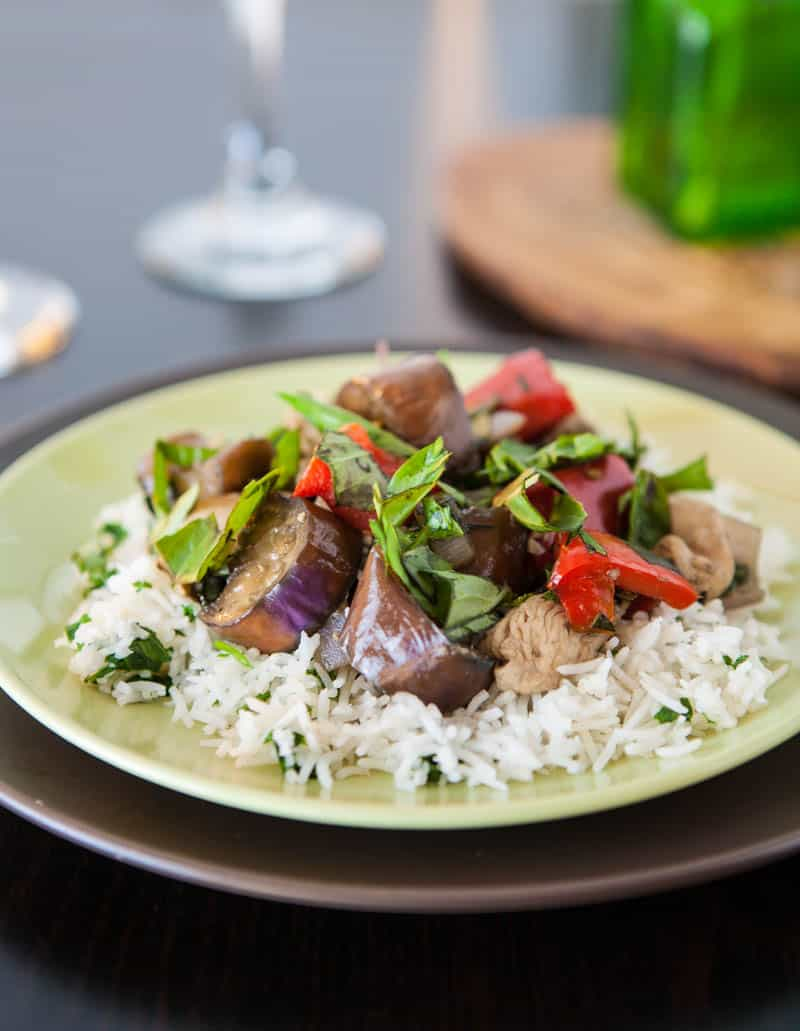 Eclectic Recipes » Chicken and Eggplant Stir Fry