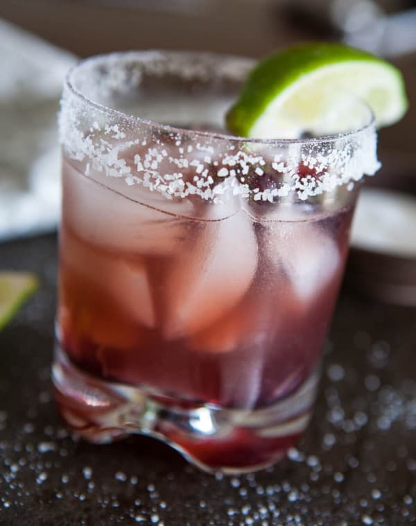 Raspberry Hibiscus Margarita by EclecticRecipes.com #recipe