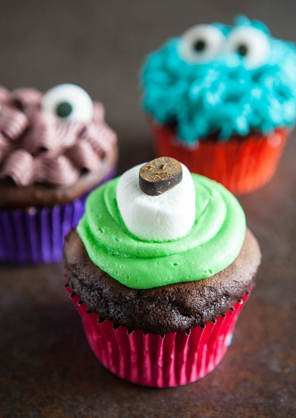 Monster Cupcakes by EclecticRecipes.com #recipe