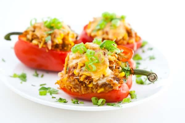 Bell Peppers Stuffed with Taco Rice @EclecticEveryday