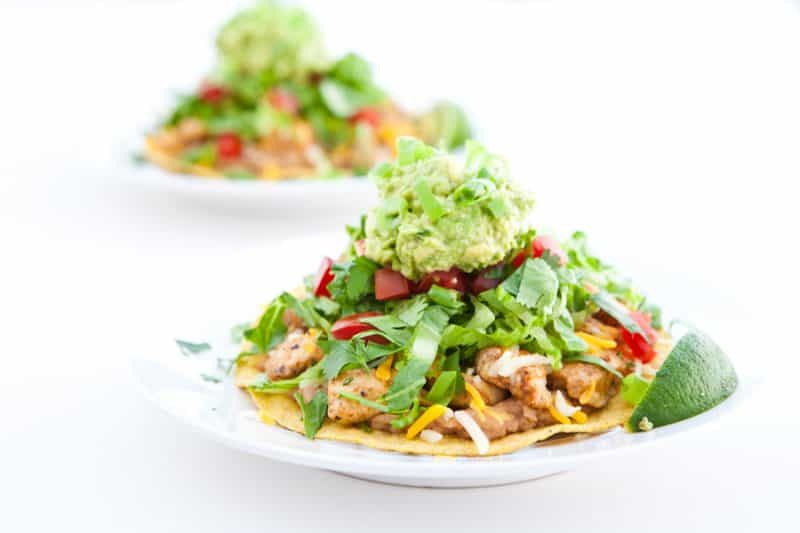 how to make mexican chicken tostadas