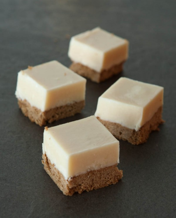 White Chocolate Fudge Gingerbread by EclecticRecipes.com #recipe