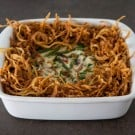Asparagus Green Bean Casserole by EclecticRecipes.com #recipe