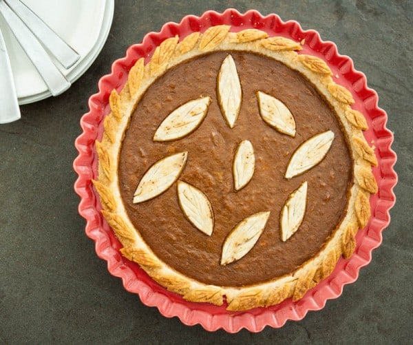 Sweet Potato Pumpkin Coconut Pie and a Giveaway by EclecticRecipes.com #recipe