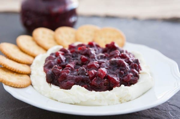cranberries and crackers