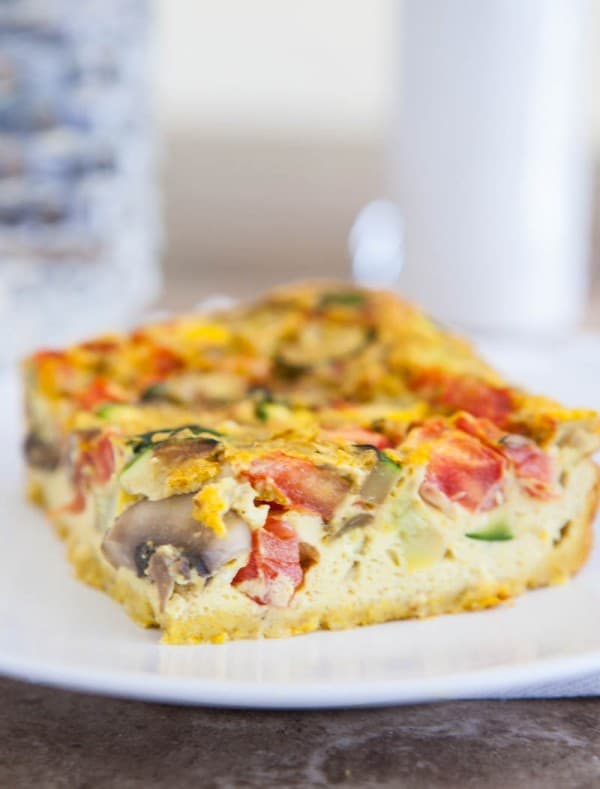 Curry Vegetable Egg Bake @EclecticEveryday