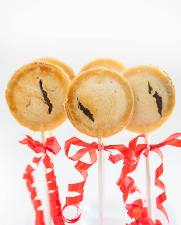 Brownie Pie Pops by EclecticRecipes.com #recipe