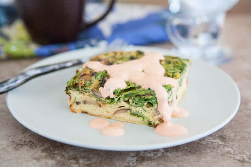 Eclectic Recipes » Spicy Egg Bake with Sriracha Remoulade