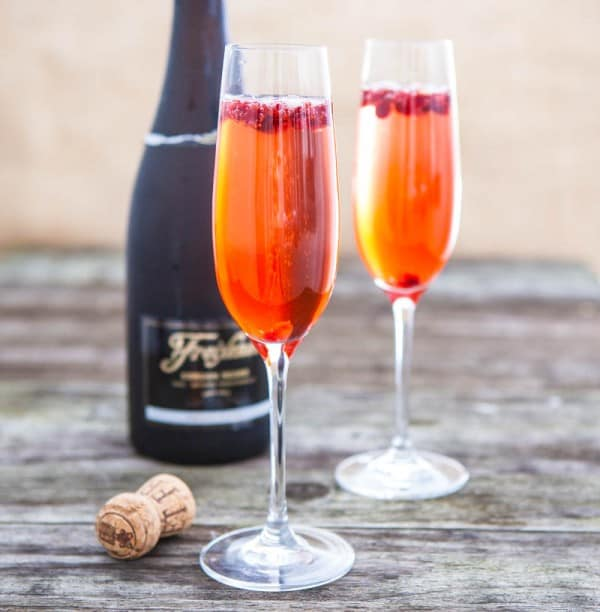 Sparkling Pomegranate Cocktail by EclecticRecipes.com #recipe