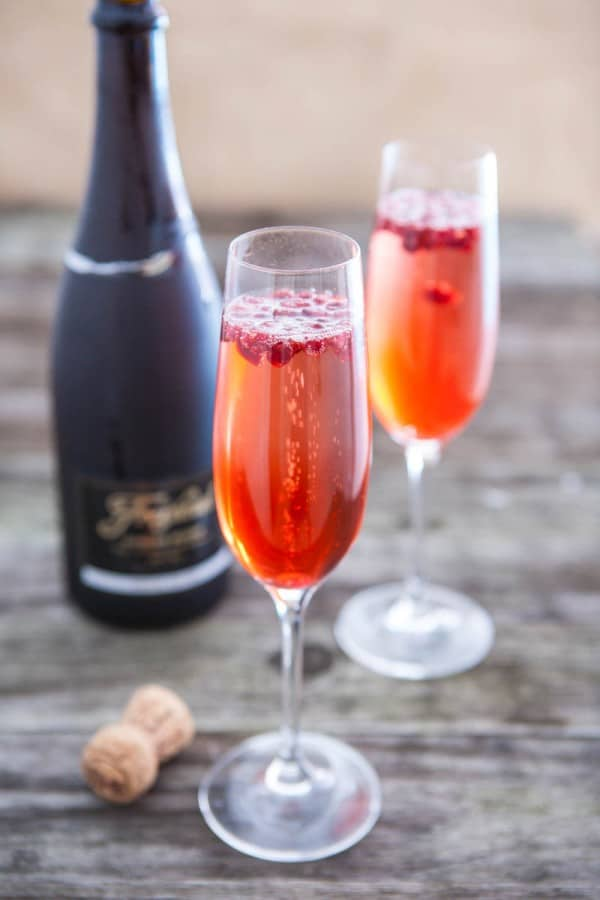 Sparkling Pomegranate Cocktails Recipe — Dishmaps