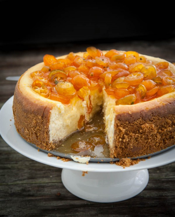 Orange Cheesecake with Candied Kumquats and a KitchenAid Giveaway by EclecticRecipes.com #recipe