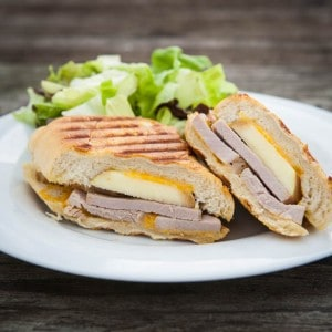 Apple Cheddar and Pork Tenderloin Panini