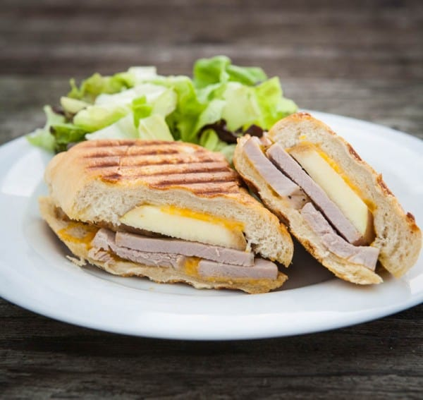 Apple Cheddar and Pork Tenderloin Panini by EclecticRecipes.com #recipe