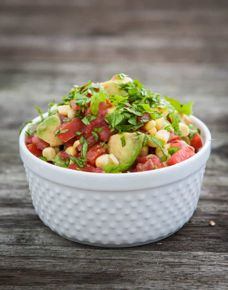 Eclectic Everyday » Fresh Corn, Tomato and Avocado Salsa