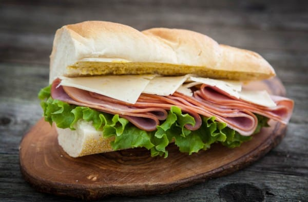 Ham and Swiss Baquette with Spicy Honey Mustard @EclecticEveryday