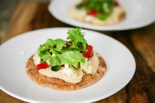 Pita Pizzas by EclecticRecipes.com #recipe