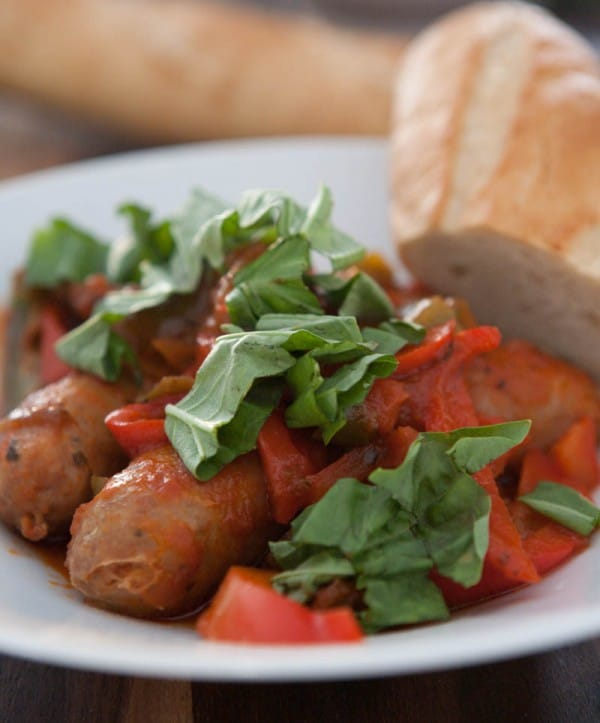Slow Cooker Sausage and Peppers @EclecticEveryday