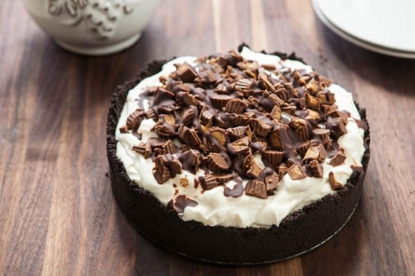 Alley oop Peanut Butter Pie by EclecticRecipes.com #recipe