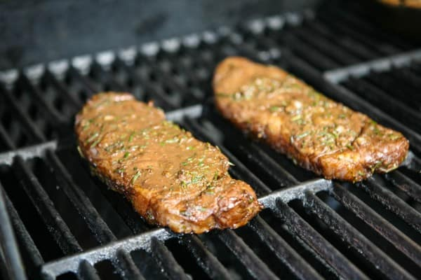 Rosemary Balsamic New York Strip by EclecticRecipes.com #recipe