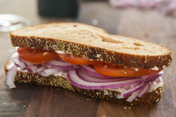 Tomato and Onion Sandwiches @EclecticEveryday