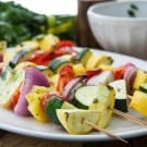 Grilled Fruit and Vegetable Kabobs @EclecticEveryday