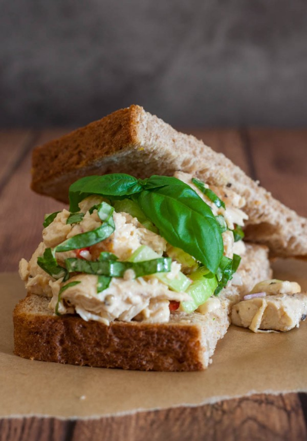 Lemon Basil Chicken Salad @EclecticEveryday