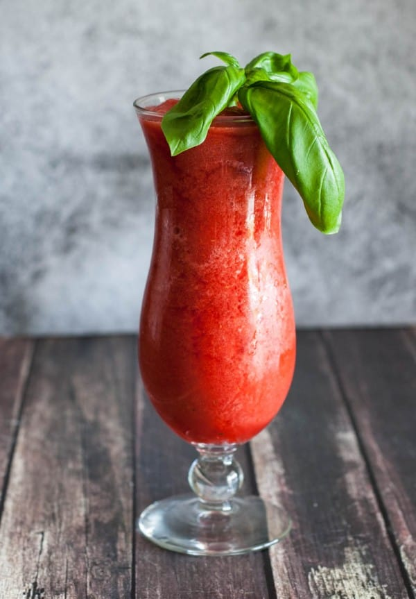 Basil Berry Daiquiri by EclecticRecipes.com #recipe