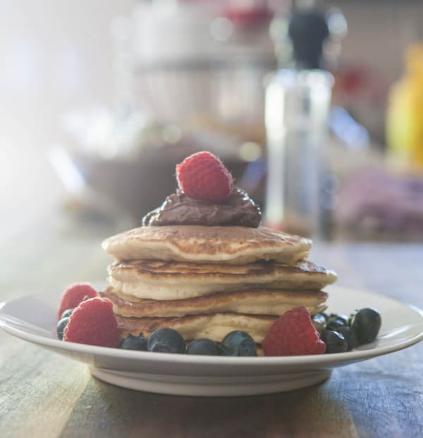 Ricotta Pancakes with Nutella @EclecticEveryday