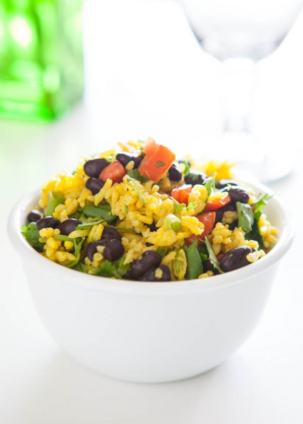 Eclectic Everyday » Black Bean and Yellow Rice Salad