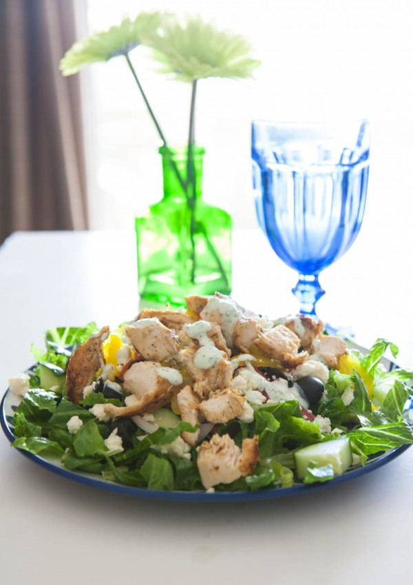 Grilled Greek Chicken Salad @EclecticEveryday