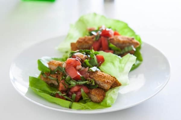 Bruschetta Chicken Lettuce Wraps and a $100 VISA Gift Card Giveaway!  @EclecticEveryday
