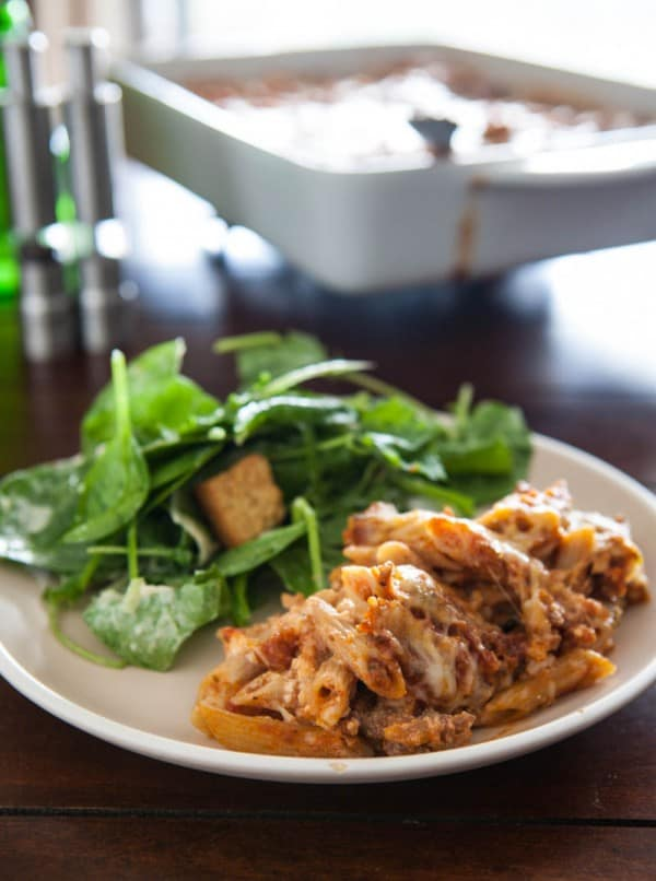 Italian Sausage Baked Ziti @EclecticEveryday