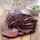 Roast Beef with Creamy Apple Horseradish Sauce @EclecticEveryday