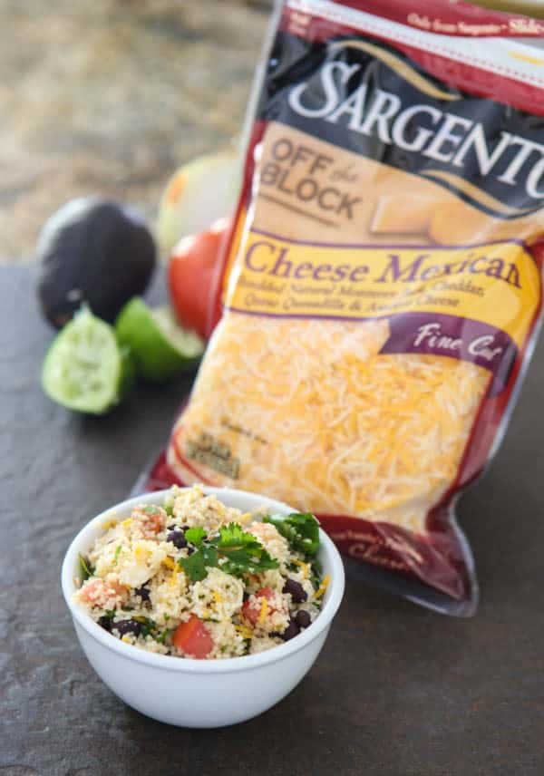 Mexican Couscous Chicken Salad @EclecticEveryday
