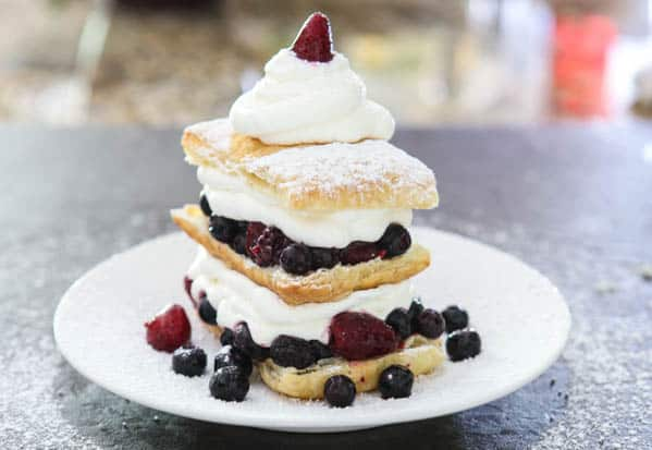 Mixed Berry Napoleons @EclecticEveryday