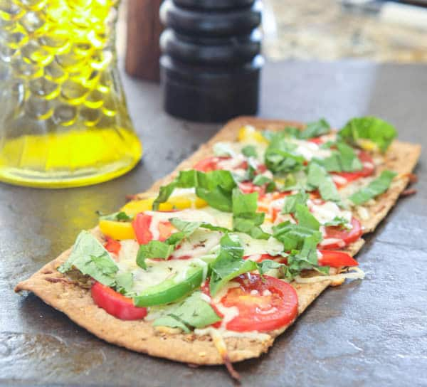 Florida Flatbread with Tomatoes and Sweet Peppers @EclecticEveryday